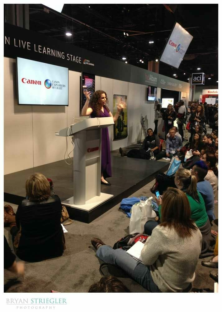 Imaging USA 2016 Review Day 3 Lindsay Adler talking at Expo