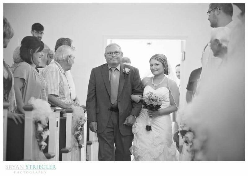Arkansas Wedding walking down aisle