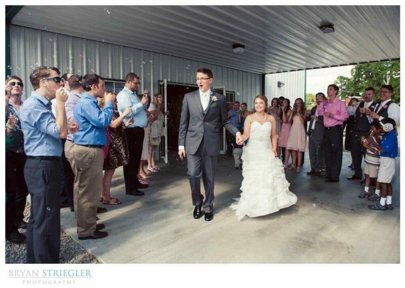 Arkansas Wedding bubble exi
