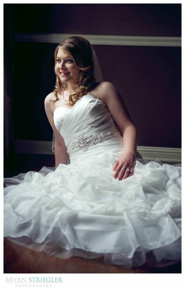 Fayetteville Bridal Portraits seated with window light