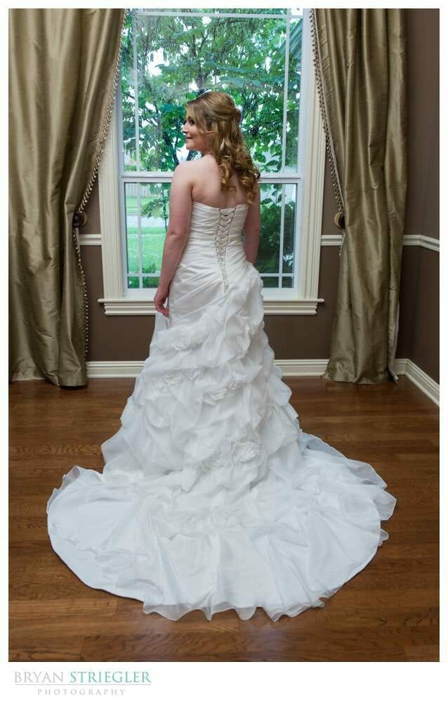 Fayetteville Bridal Portraits back of the dress
