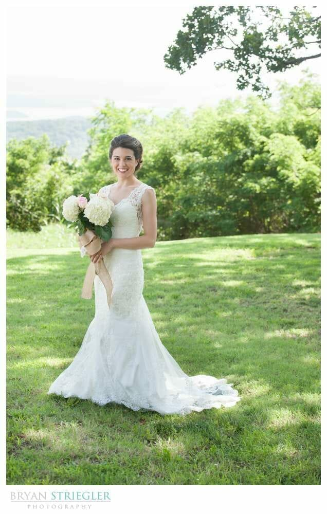 Whitney Mountain Lodge wedding bridal portrait full length