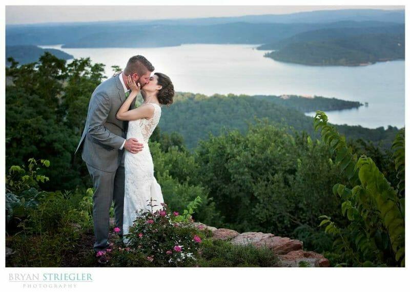 Whitney Mountain Lodge wedding overlooking lake
