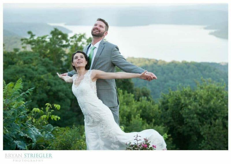 Whitney Mountain Lodge wedding titanic pose