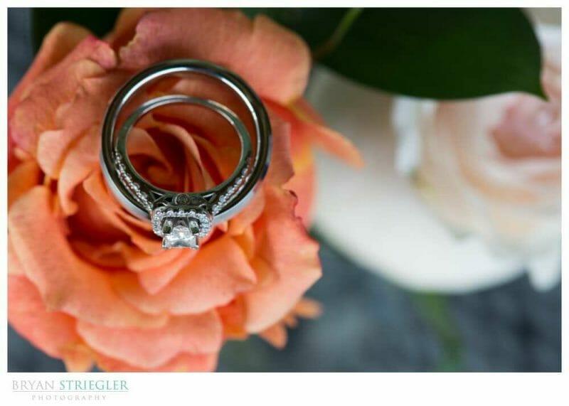 Whitney Mountain Lodge wedding ring shot