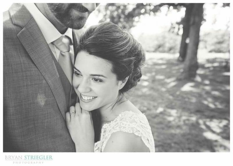 Whitney Mountain Lodge wedding bride leaning on groom