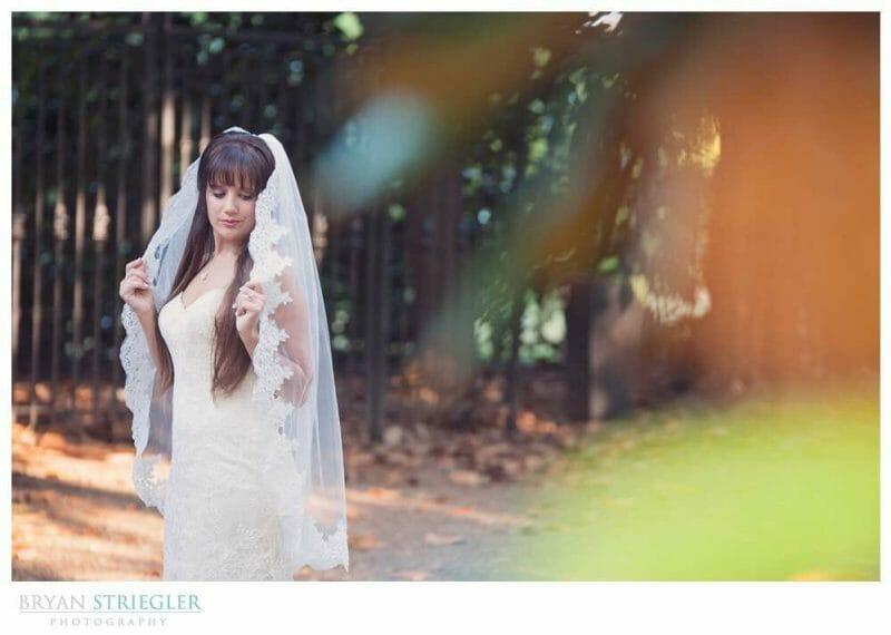 Ashley's Arkansas Bridal Portraits at Magnolia Gardens trees