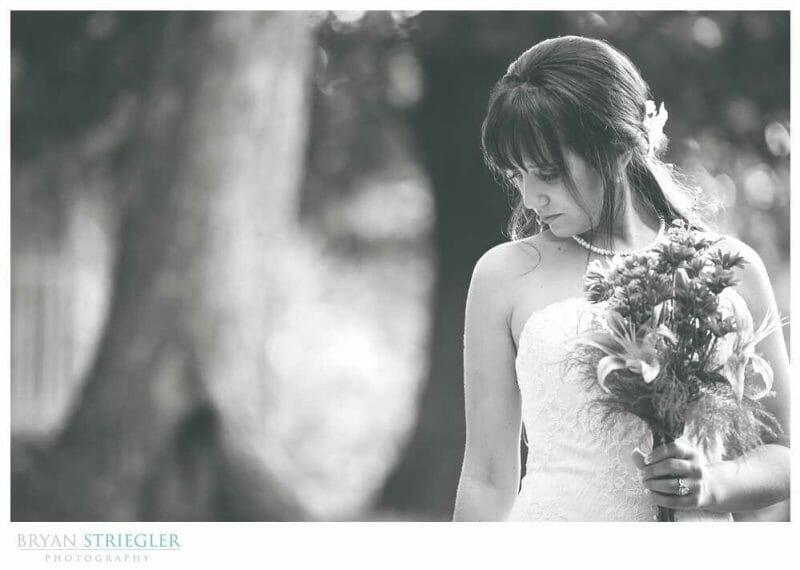 Ashley's Arkansas Bridal Portraits at Magnolia Gardens black and white