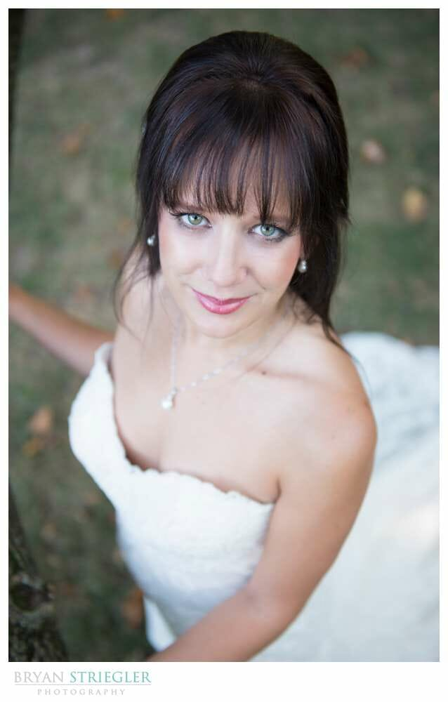 Ashley's Arkansas Bridal Portraits at Magnolia Gardens high angle