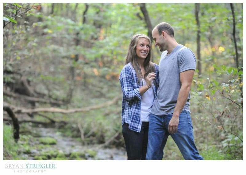 Arkansas Engagement Photos smiling