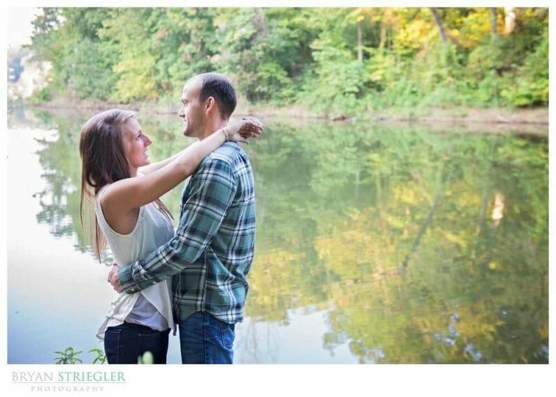 Arkansas Engagement Photos in front of Beaver Lake