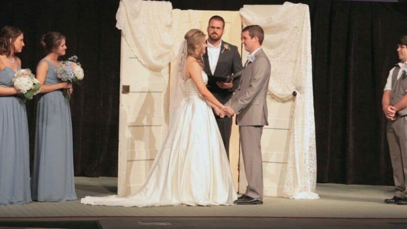 Arkansas Wedding Video Lauren on stage