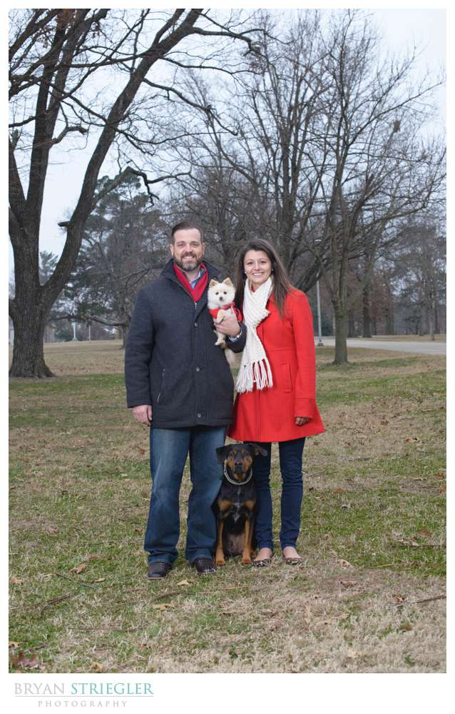 Fayetteville Wedding Photographer with dogs