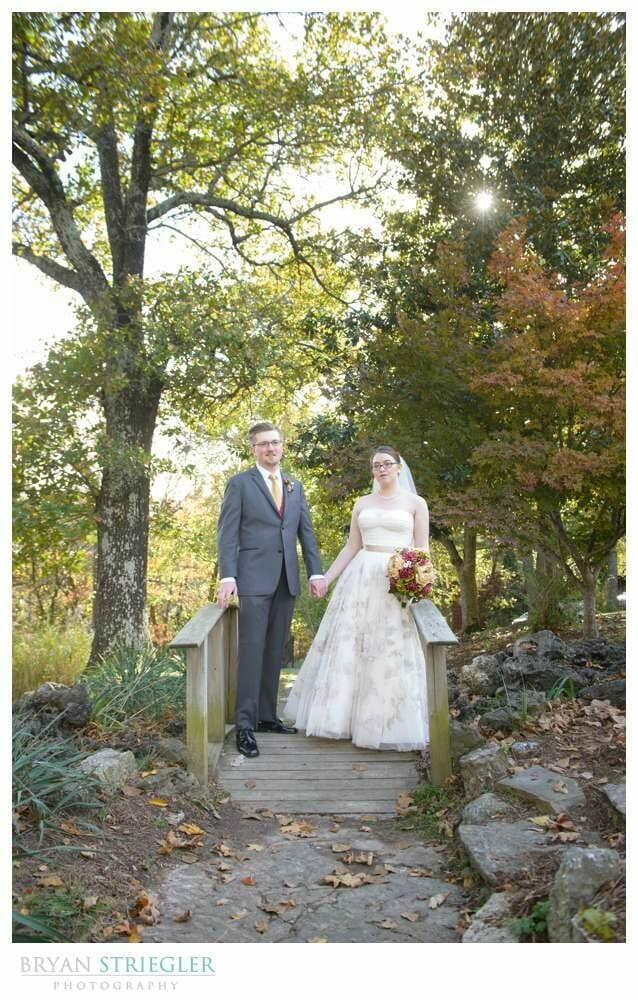 Eureka Springs Wedding Photographer bridge at Crescent Hotel