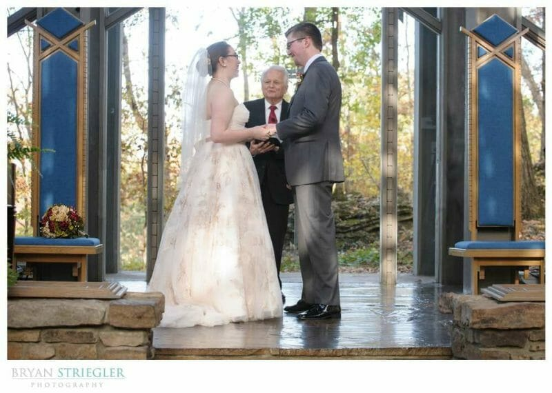 Eureka Springs Wedding Photographer ceremony Thornecrown chapel