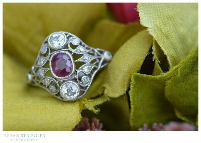 Eureka Springs Wedding Photographer macro ring shot