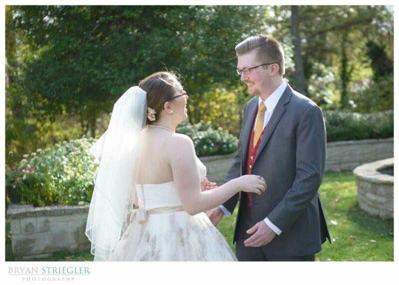 Eureka Springs Wedding Photographer first look