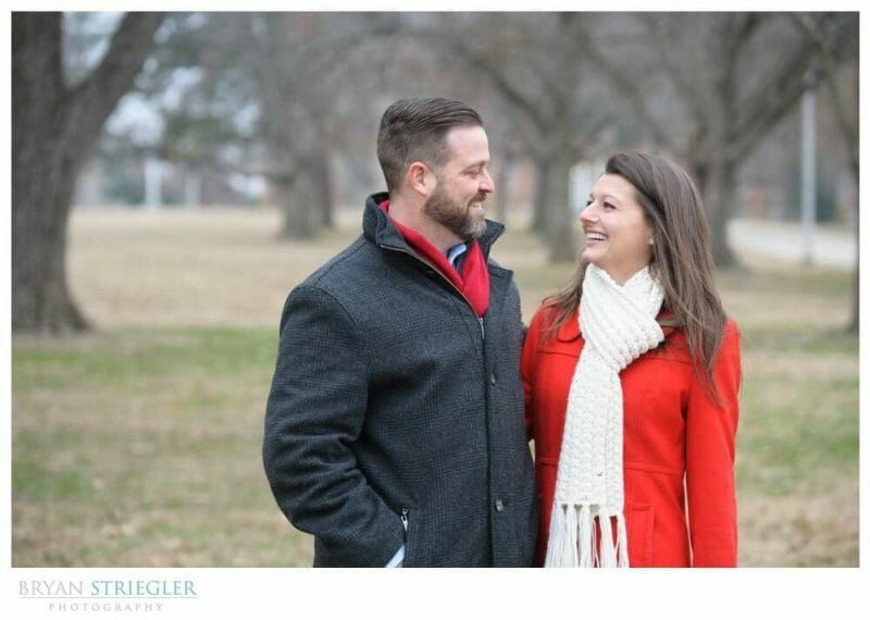Fayetteville Wedding Photographer smiling at each other