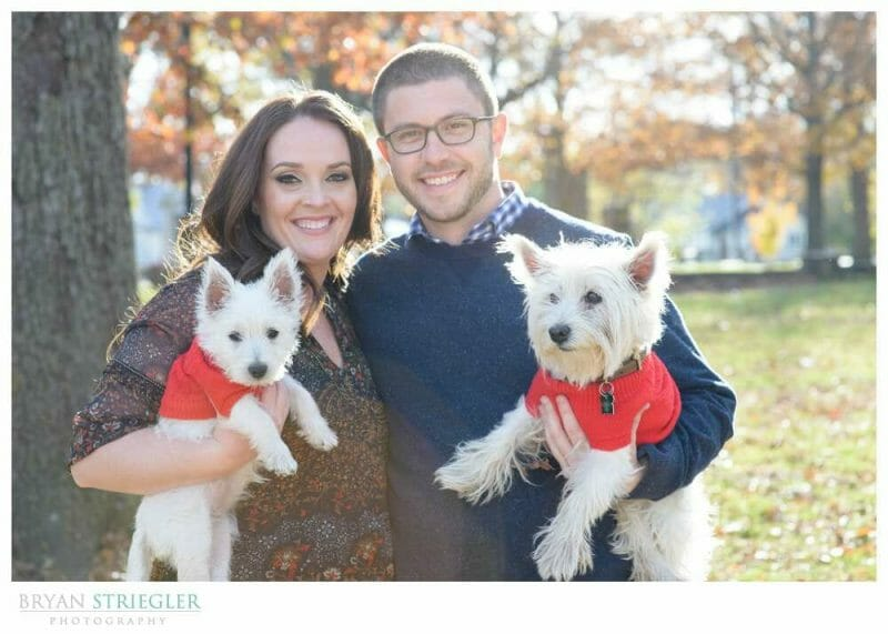 Engagements at Prairie Grove Battlefield Park with dogs