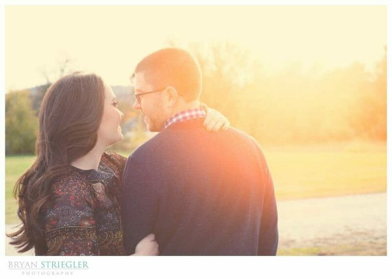 Engagements at Prairie Grove Battlefield Park looking at him