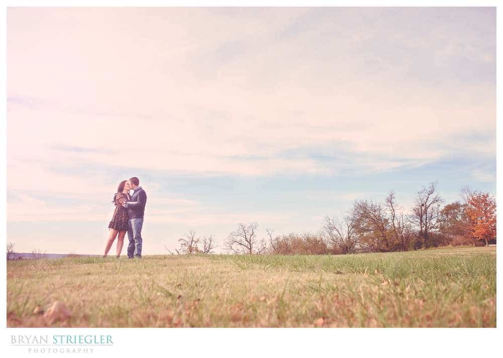 Engagements at Prairie Grove Battlefield Park wide angle with sky