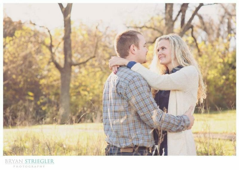 Shooting Winter Engagement Photos in field