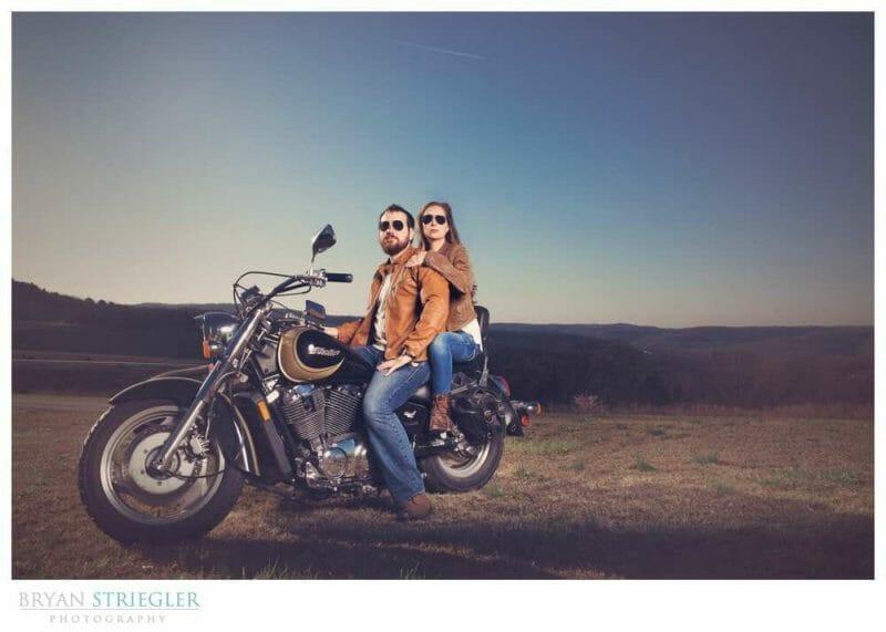 Profoto Acute B for Weddings motorcycle