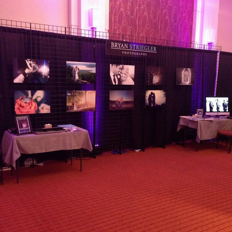 Little Rock Kiss the Bride Expo booth setup