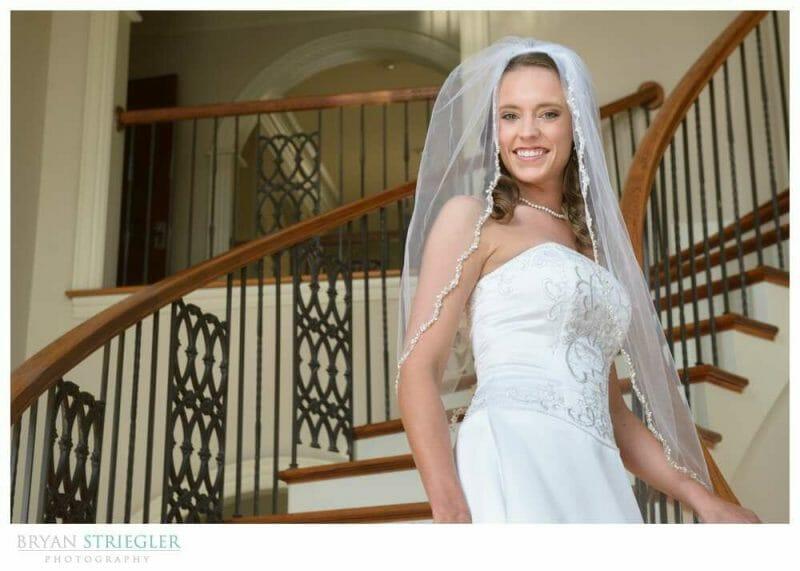 Staircase Bridal Portraits tight shot