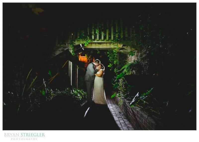 creating environmental wedding portraits