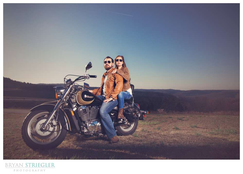 Environmental portrait on motorcycles