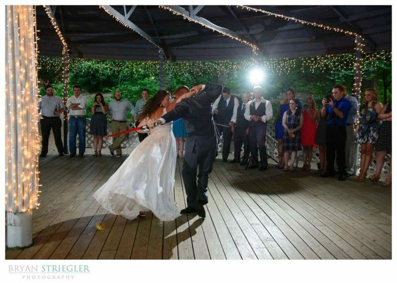 Light saber dancing at Magnolia Garden