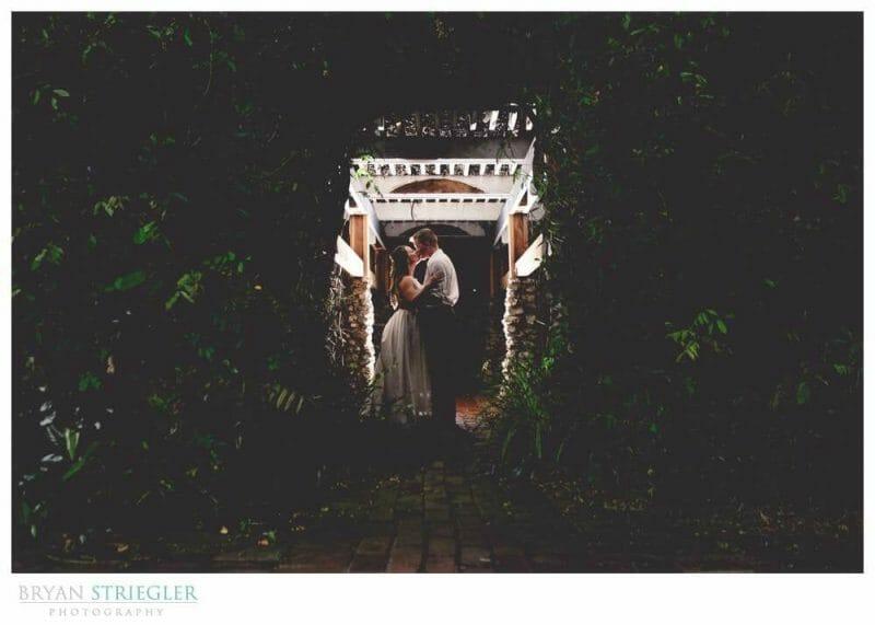 kissing at Magnolia Gardens