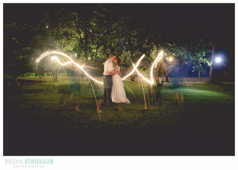 Creative sparkler photo