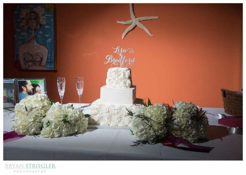wedding cake by Rick's Bakery