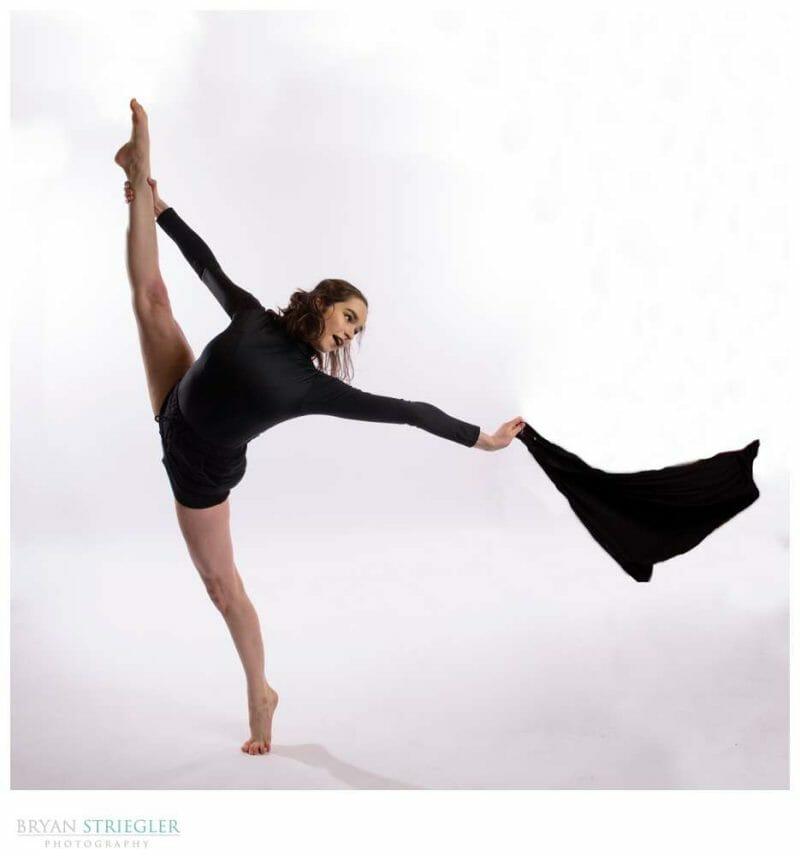 Dancer in studio with Xplor 600