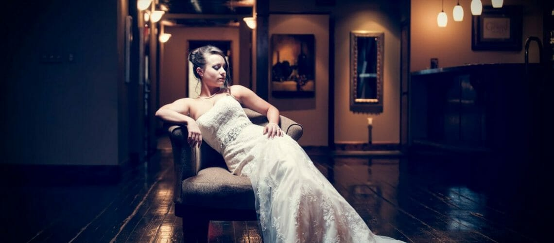 Bride in chair at the Grand at 117