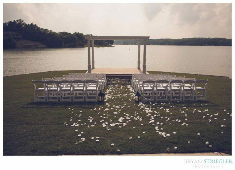 wedding ceremony at Lake Point