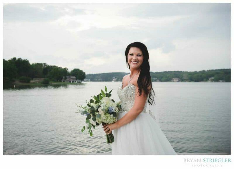 bridal portrait at Lake View