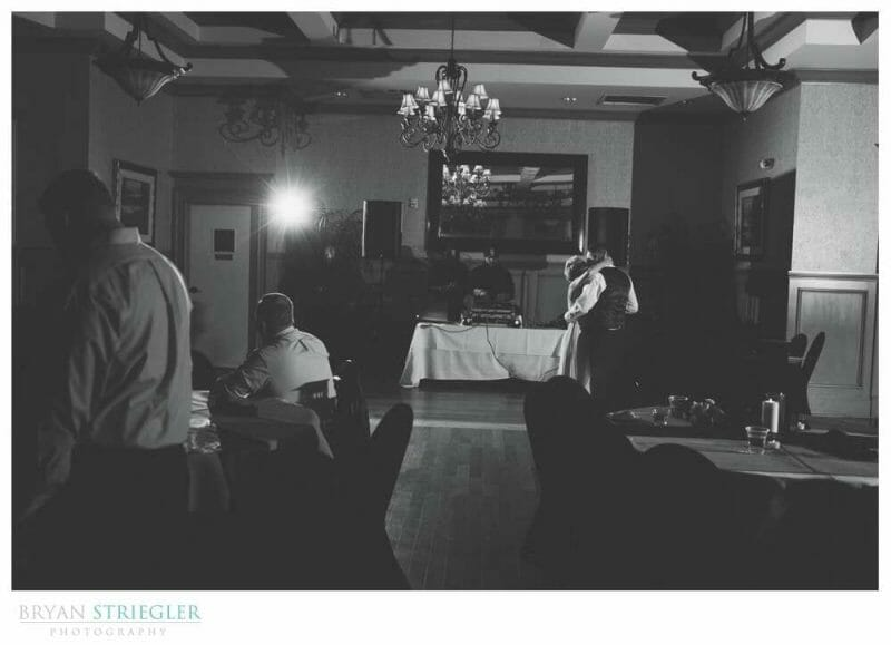 black and white photo of first dance