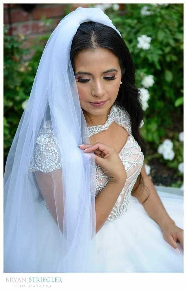 bridal portrait closeup at the Ravington