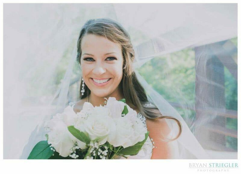bride inside her vail for bridal portrait