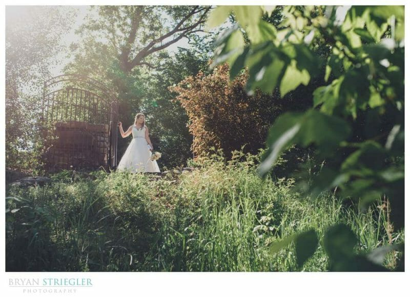 bridal portrait out in nature