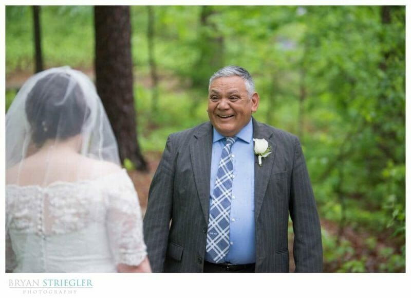 father sees bride for the first time