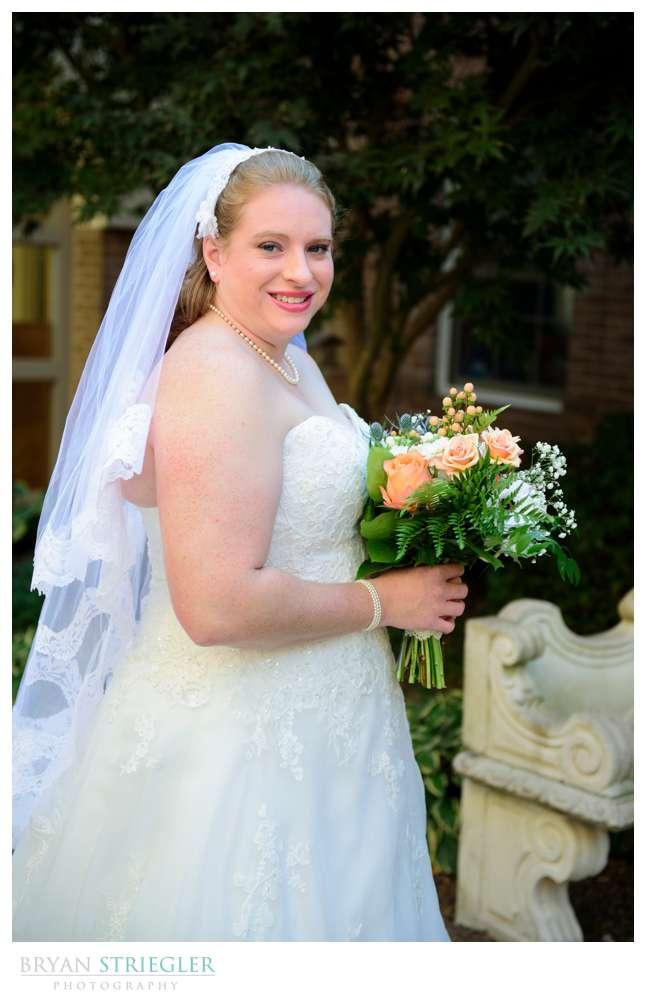 bridal portrait at Central United Methodist