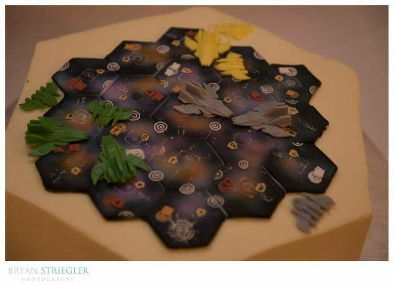 custom groom's cake with board game