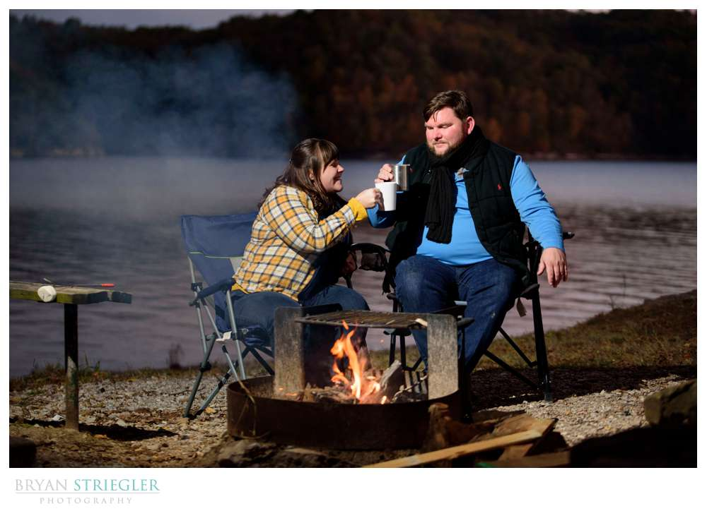 engagement photos at campground