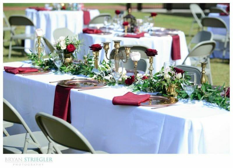 wedding decor tables