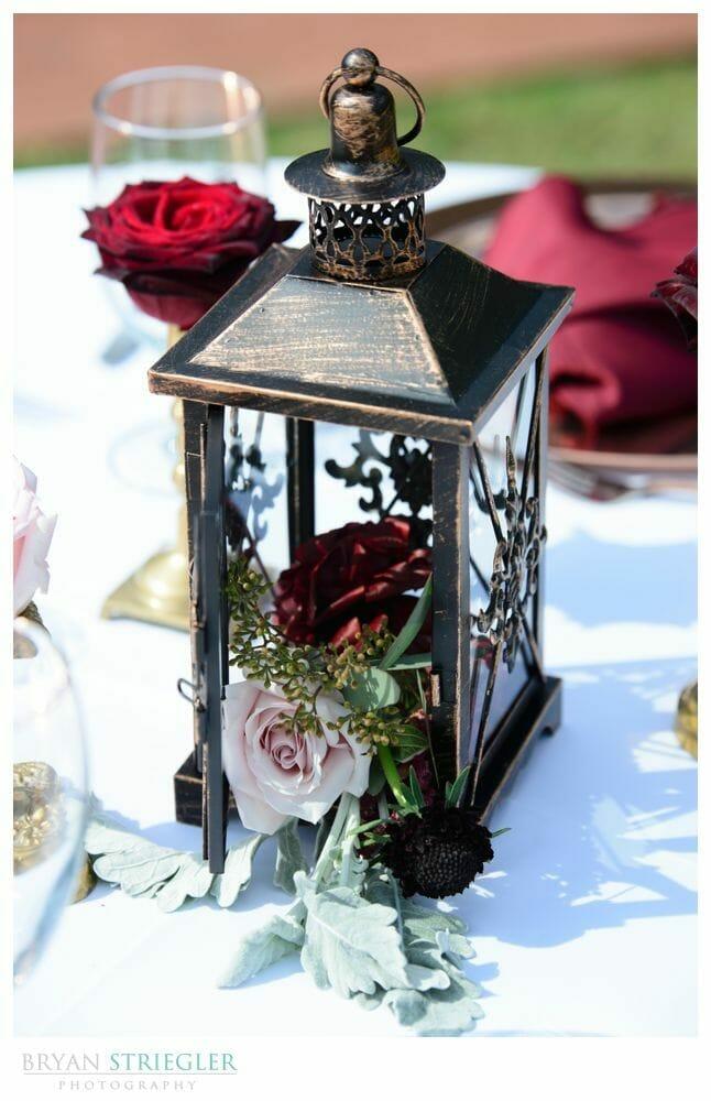 wedding lantern with flowers