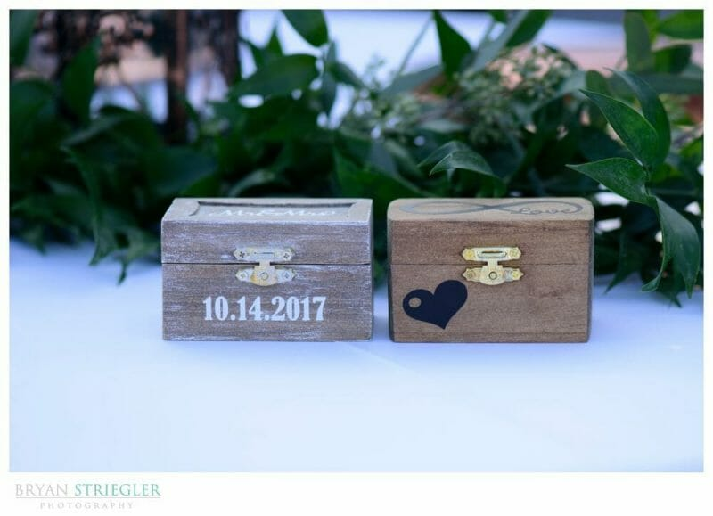 custom wedding ring boxes with wedding date